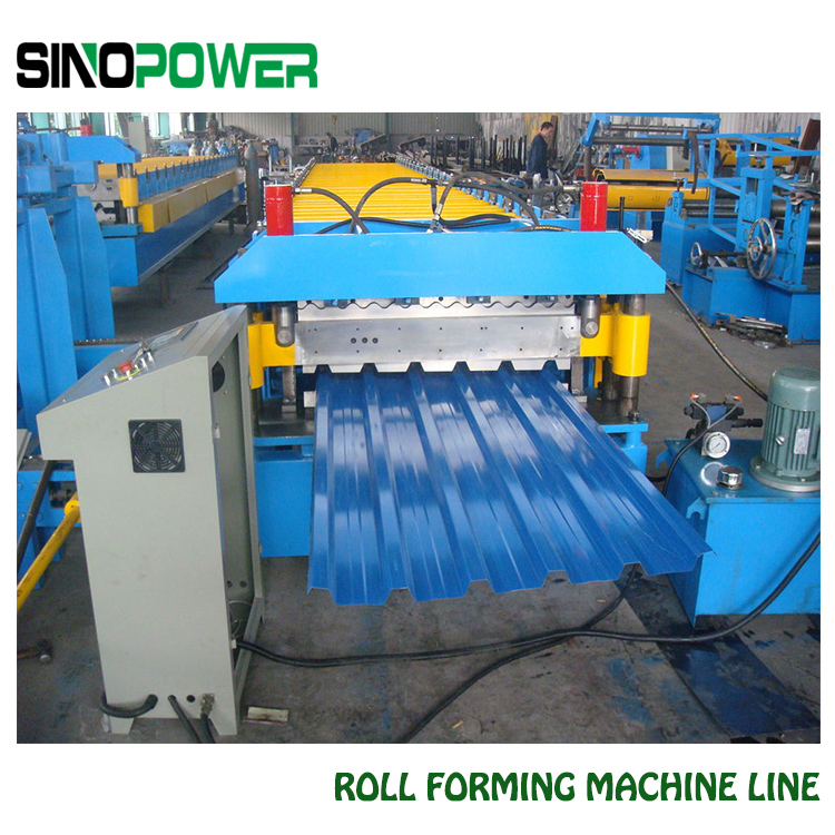 Rolling Forming Machine For Roof And Cap Ridge From Sino Power