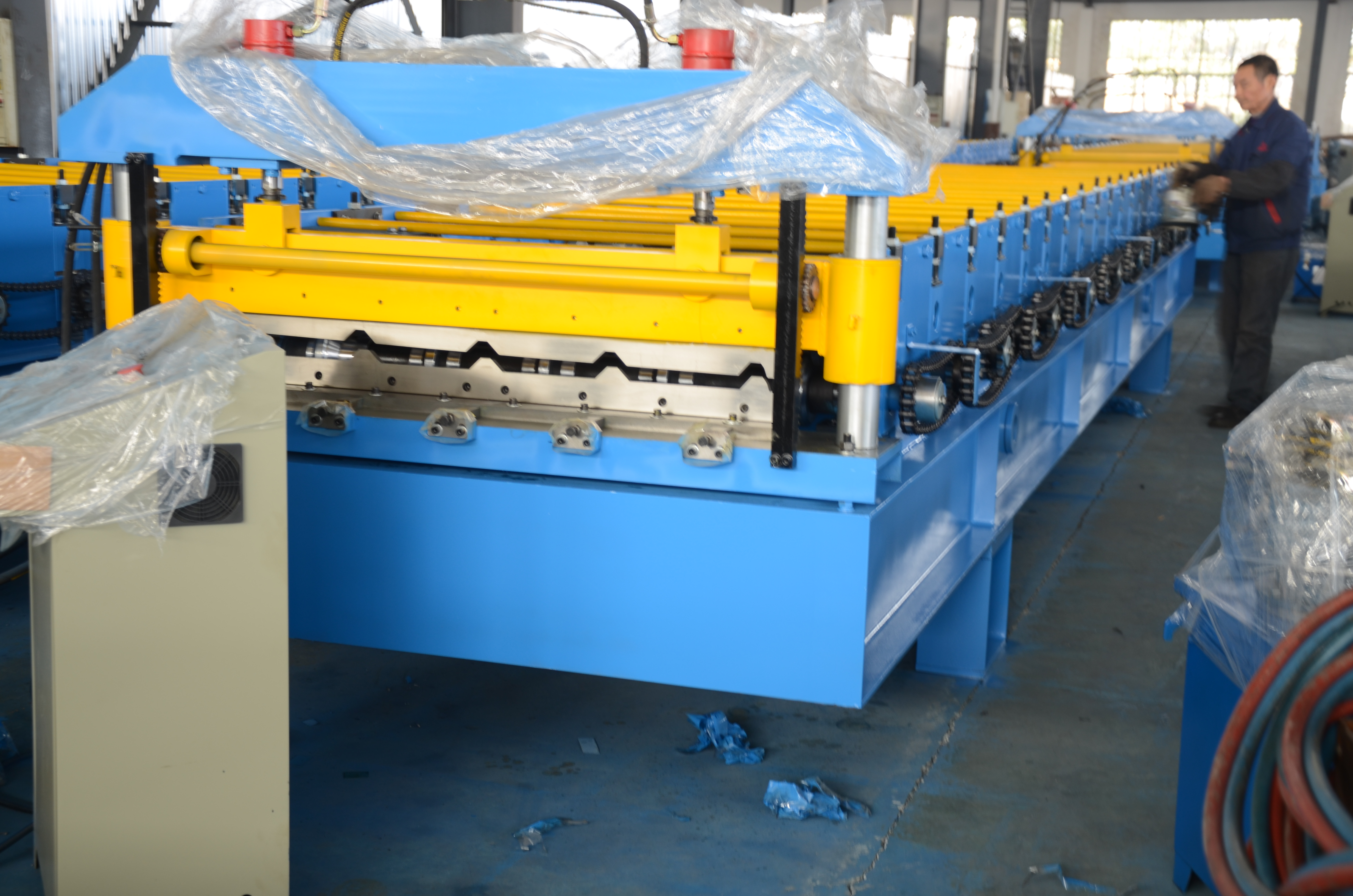 Steel Tile Rolling Forming Machine From Sino Power